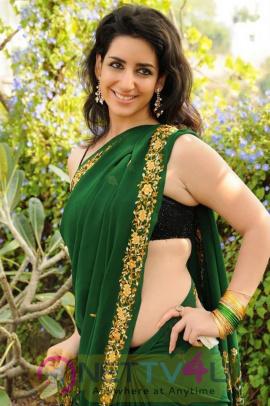 Telugu Actress Kriya Green Saree Elegant Photos Telugu Gallery