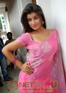 Telugu Actress Madhurima Pink Saree Photoshoot Stills Telugu Gallery