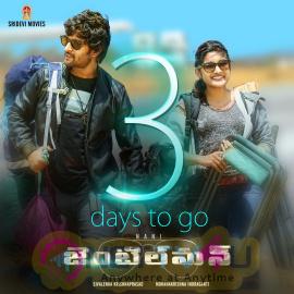 Telugu Movie Gentleman 3 Days To Go Beauteous Poster Telugu Gallery