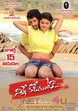 Telugu Movie Ninne Korukunta July 15th Release Date Poster Telugu Gallery
