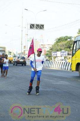 The Grand Mall Hosts Celebration Of Spirit Of Pinkathon Run To Chennai Handsome Stills
