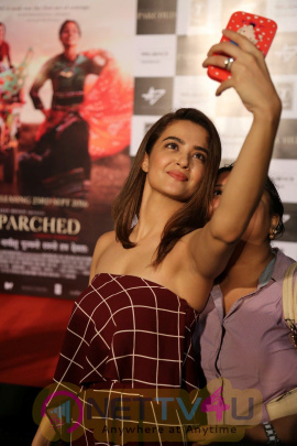Trailer Launch Of Film Parched With Ajay Devgan & Surveen Chawla Stills Hindi Gallery