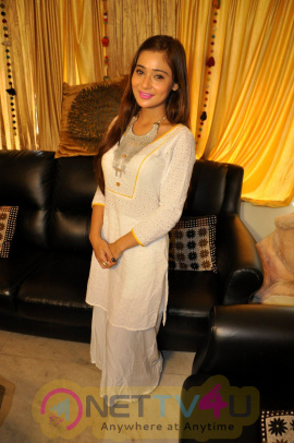 Tv Actress Sana Khan At Celebration Eid Delightful Stills