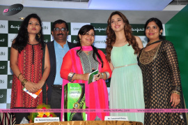 tamanna launches banjara s samvridhi hair oil
