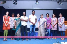 tamil actor vishal launches save cattle facebook page event photos