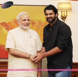 telugu actor prabhas pm meet for bahu bali success