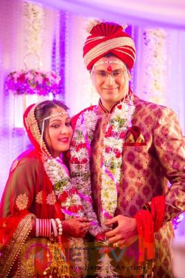 Tollywood Actress Ankita Jhaveri And Vishal Jagtap Wedding Photos