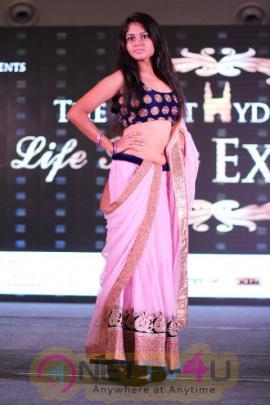 V Star Entertainment & SIPL Lifestyle Expo 2016 Fashion Show Stills Telugu Gallery