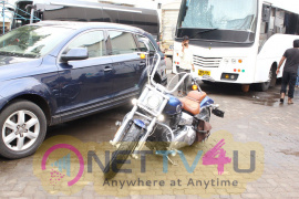 Varun Dhawan Spotted With Bike At Mehboob Studio Excellent Photos Hindi Gallery