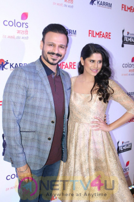 Vivek Oberoi & Sai Tamhankar Announcement Pc Of Filmfare Awards Images Hindi Gallery