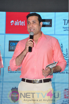 VVSLaxman Inaugurates Airtel Hyderabad Marathon Expo & Sport EX India Event Stills Telugu Gallery