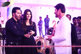 varun dhawan and kriti sanon on the sets of brahmotsavam