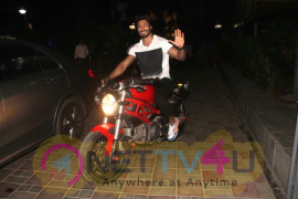 Vidyut JaMmval Makes A Grand Entry On A Bike At Batman Vs Superman Screening Stills