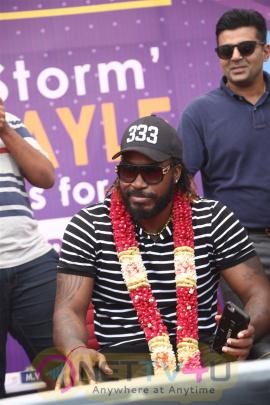 West Indies Cricketer Chris Gayle Visited Velammal School Photos Tamil Gallery