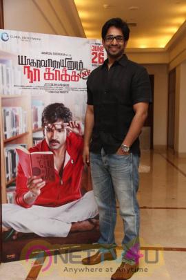 yagavarayinum naa kaakka tamil movie team meet stills 64