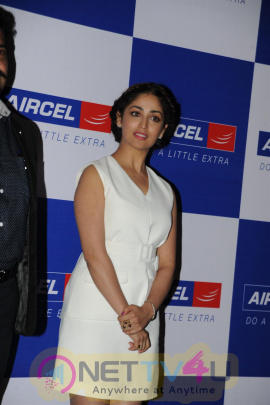Yami Gautam At The Felicitation Ceremony Of Aircel's IPlayWin Contest Photos Hindi Gallery
