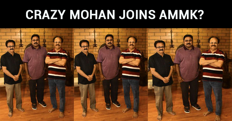 Crazy Mohan Joins AMMK?