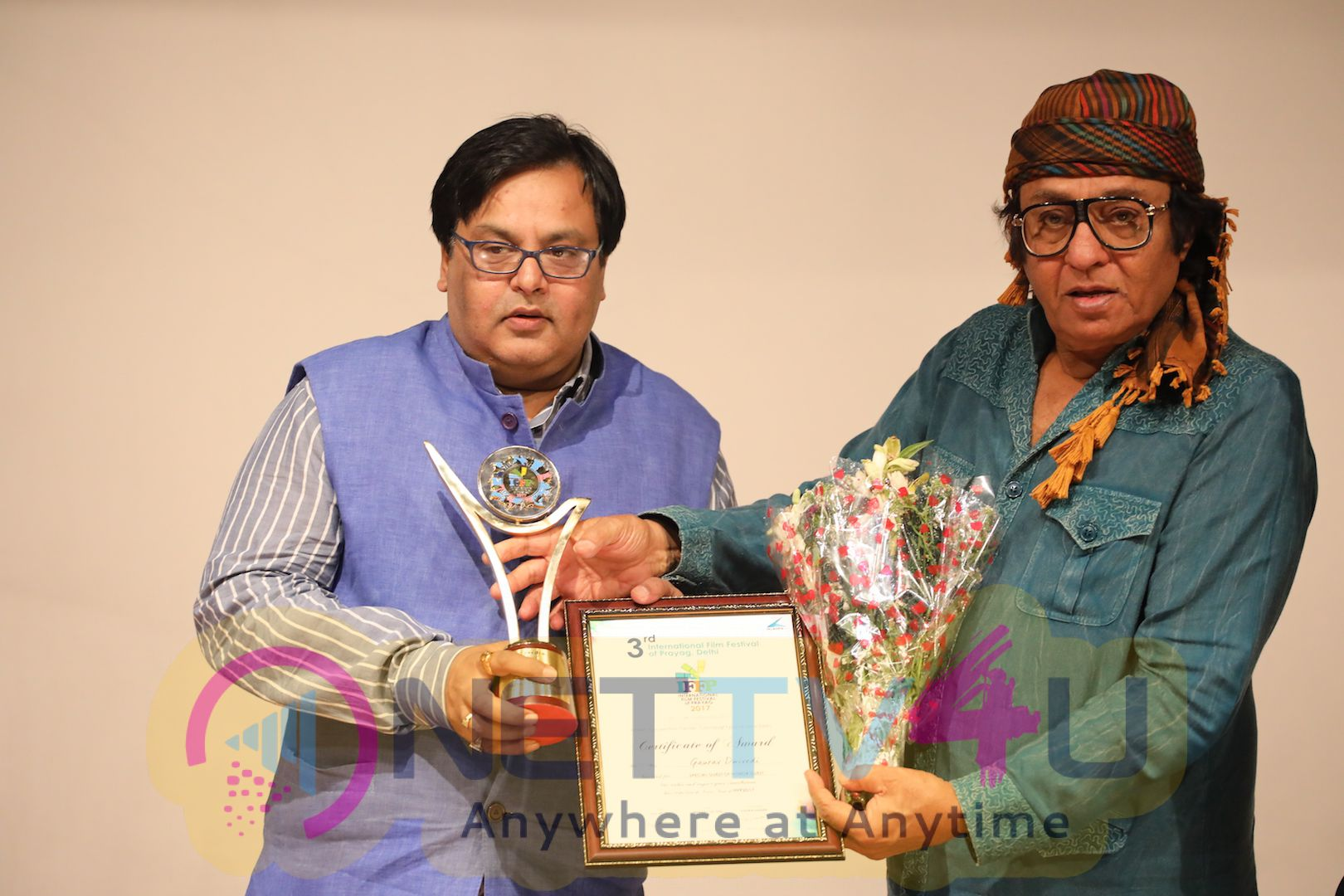 Veteran Actor Ranjeet Felicitated At 3rd International Film Festival Of Prayag Event Photos