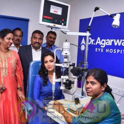 Actress Amala Paul Inaugurates Agarwal Eye Hospital At Pondicherry Pics Tamil Gallery