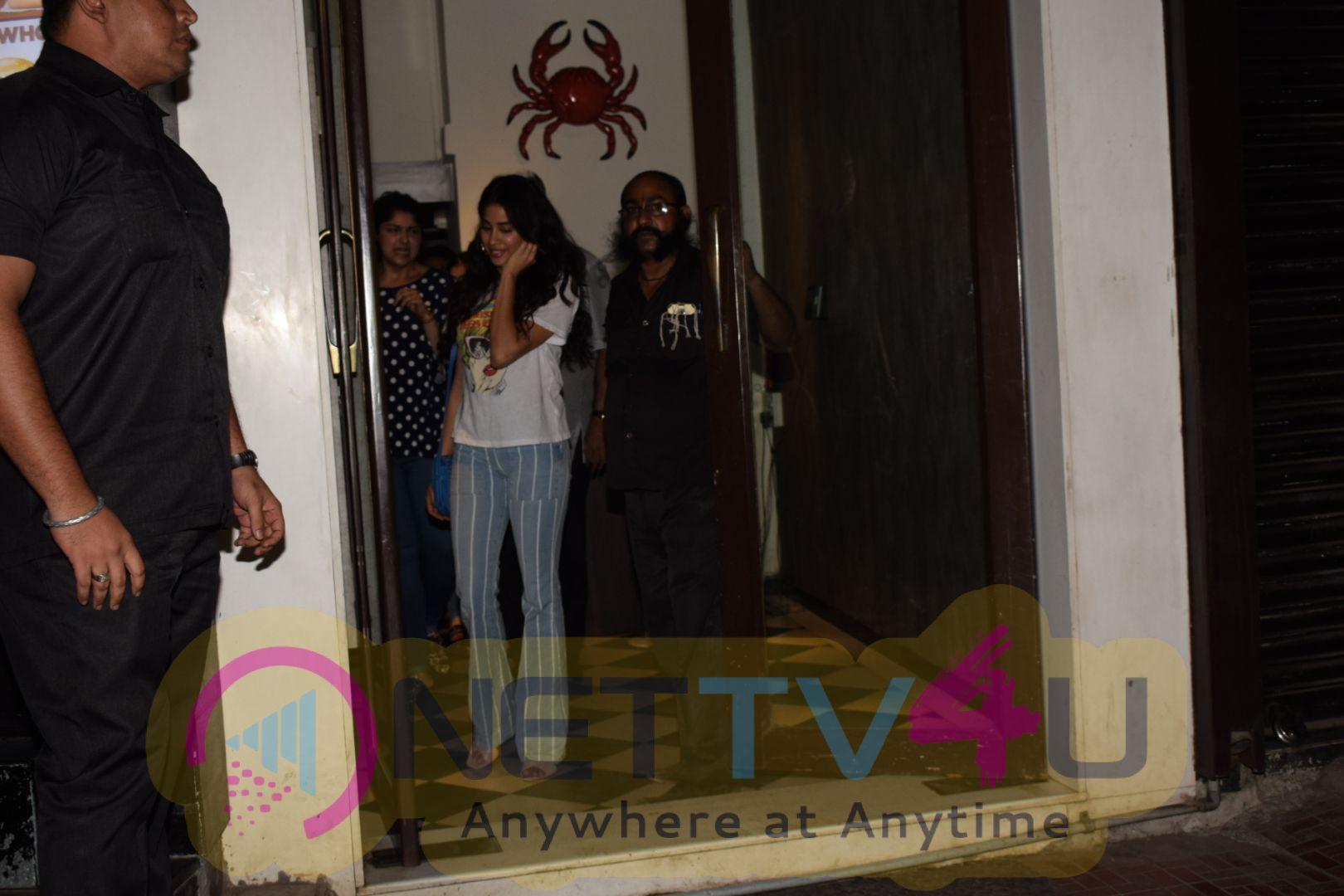 Boney, Janhvi & Khushi Kapoor Spotted At Bastian In Bandra Pics  Hindi Gallery