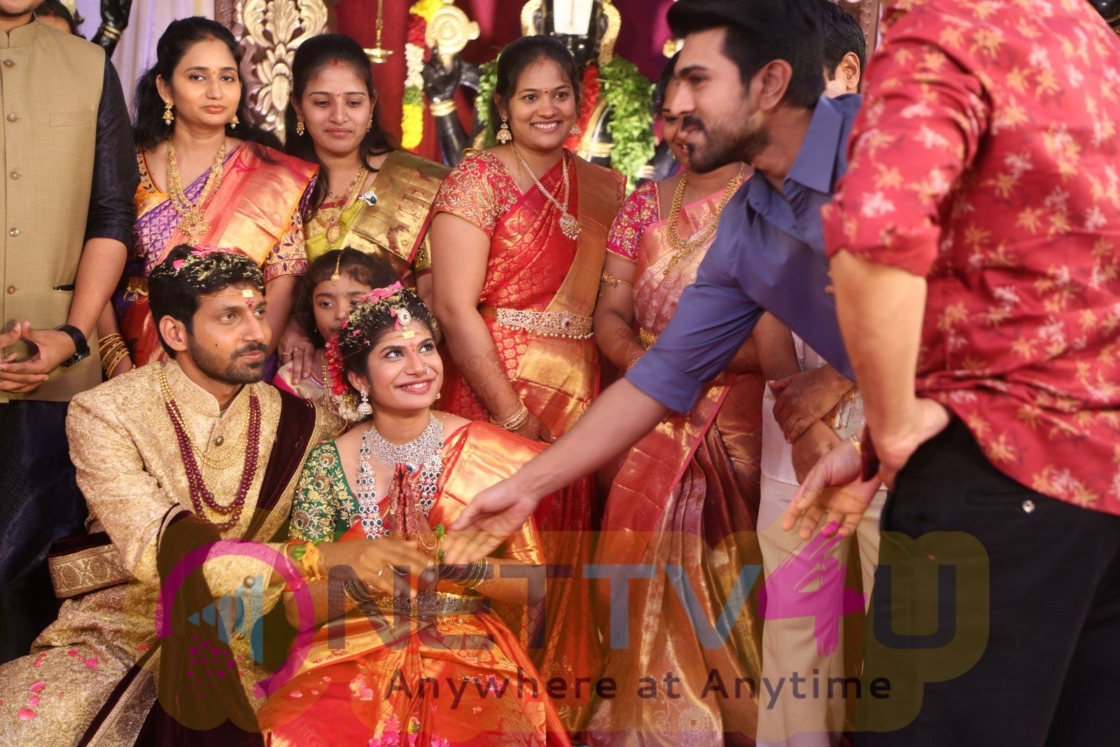 Celebs At Tejaswini & Mithun Sharath Wedding Function Pics