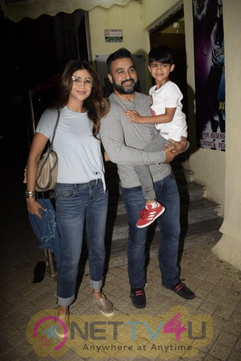 Shilpa Shetty, Raj Kundra With Son Viaan & Sanjay Dutt Kids With PVR Images Hindi Gallery