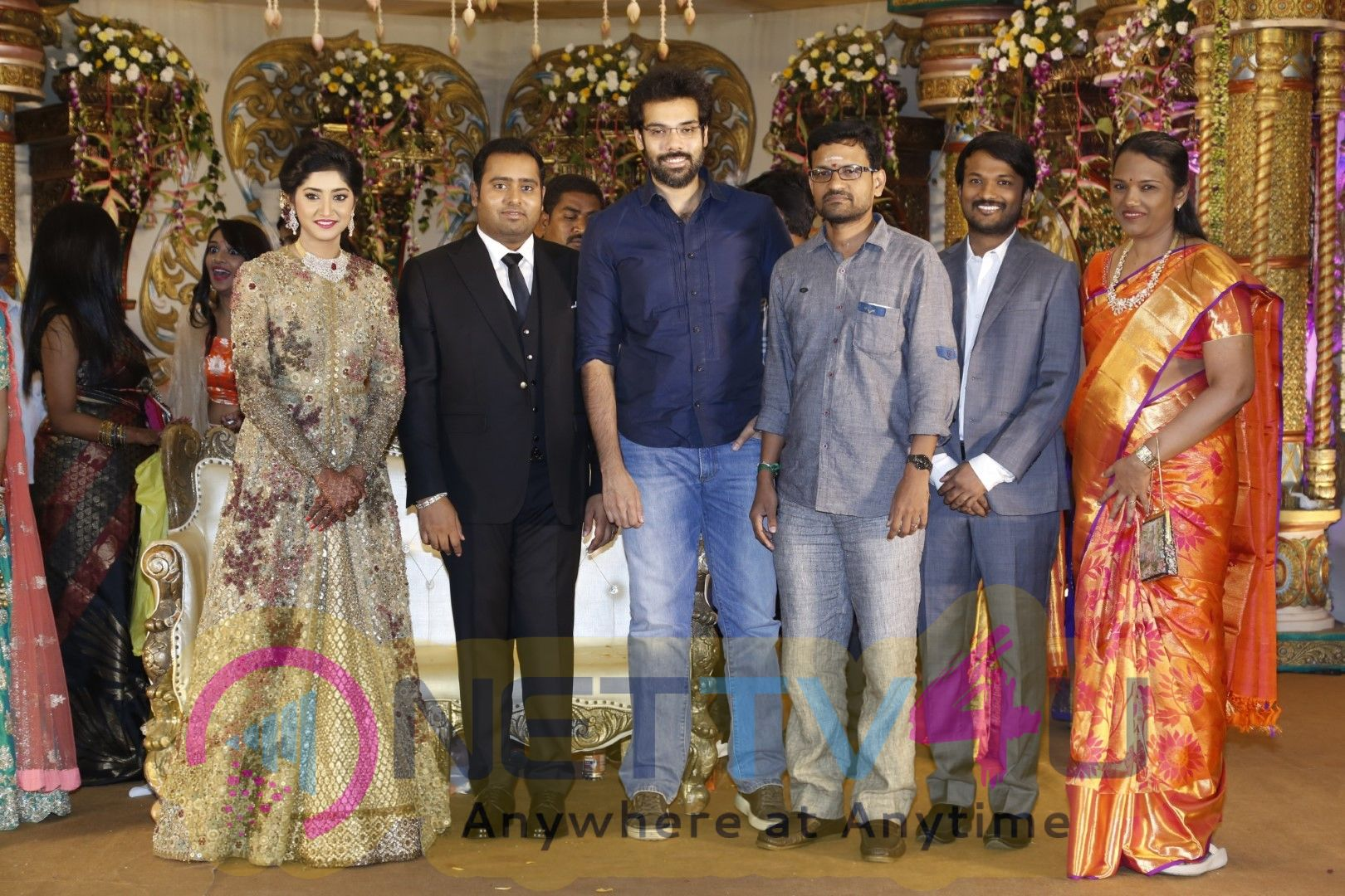 Producer Abinesh Elangovan Nandhini Wedding Reception Stills