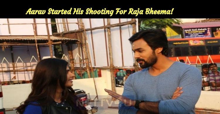 Aarav Started His Shooting For Raja Bheema!