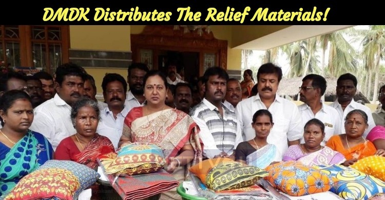 DMDK Distributes The Relief Materials!