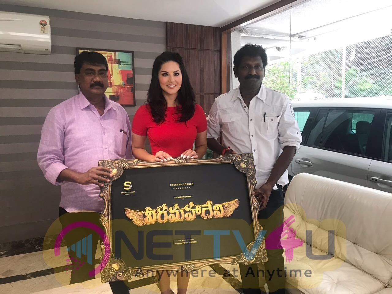 Sunny Leone's Veera Maha Devi Title And Logo Launch Photos