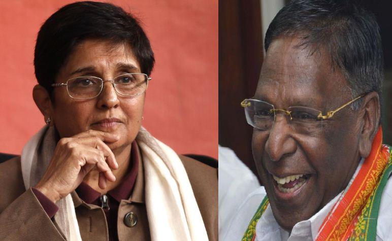 Pondicherry CM Narayanasamy Is Against Kiran Bedi!