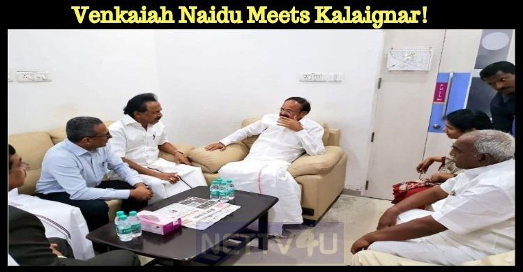 Venkaiah Naidu Meets Kalaignar!
