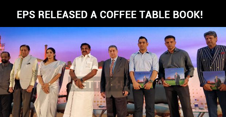 EPS Released A Coffee Table Book! Dhoni Received It!