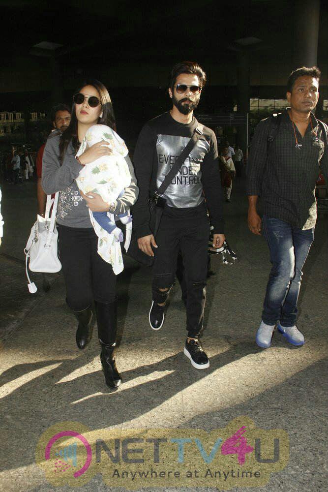 Shahid Kapoor ,Mira Rajput Spotted At Airport Stills