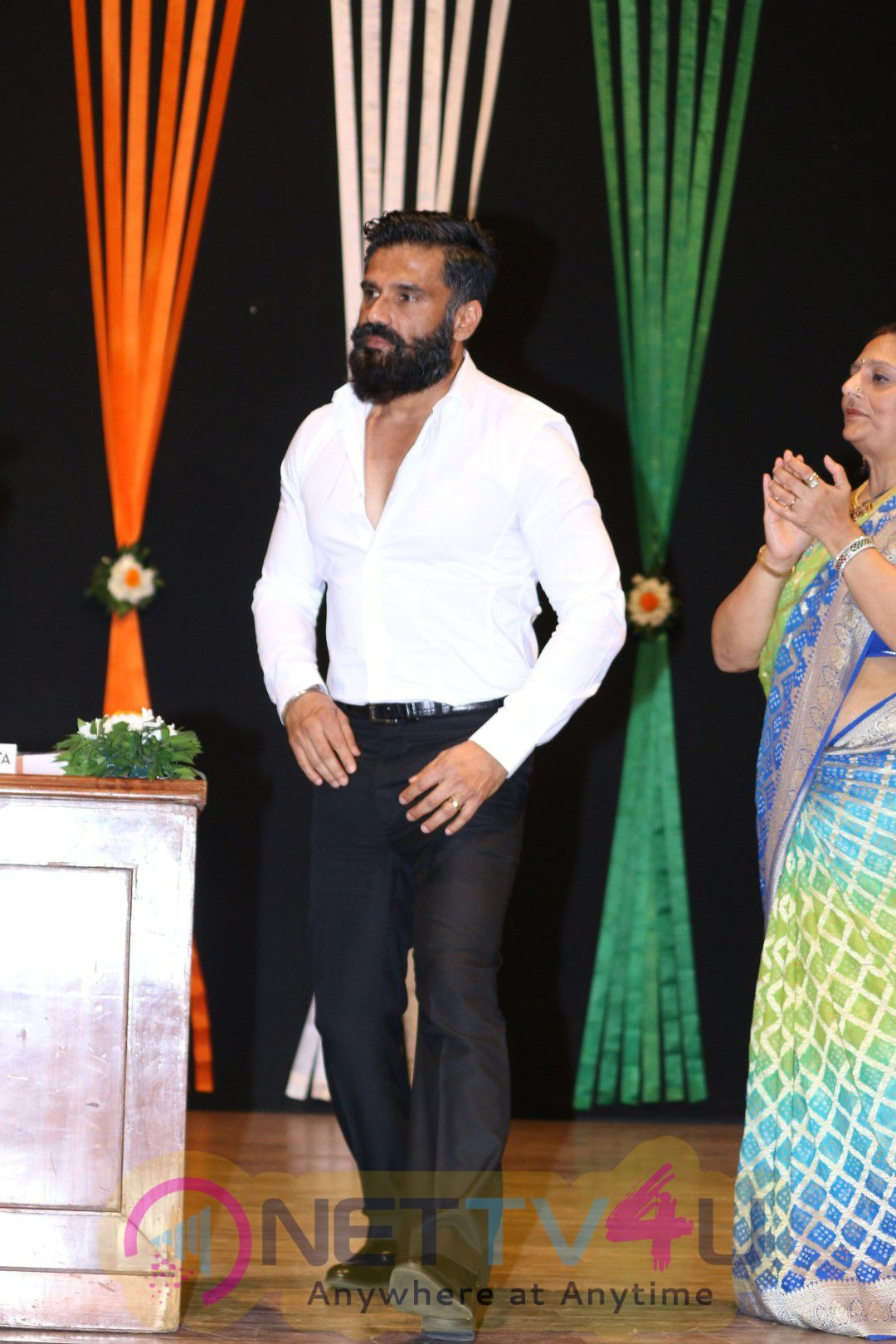 Sunil Shetty At Jagriti Sammelan Vandan Viro Stills
