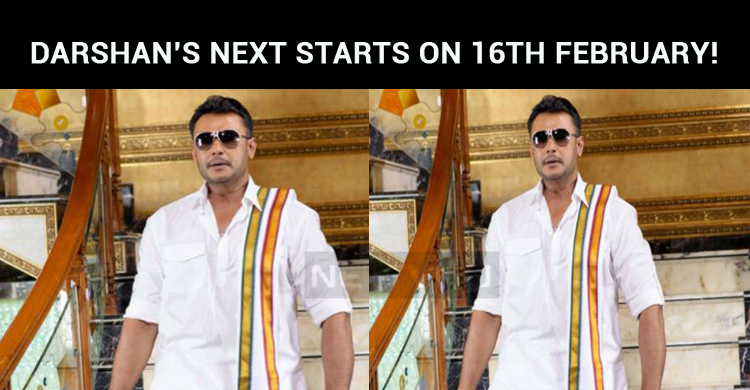 Darshan's Next Movie Shooting Starts On 16th February!