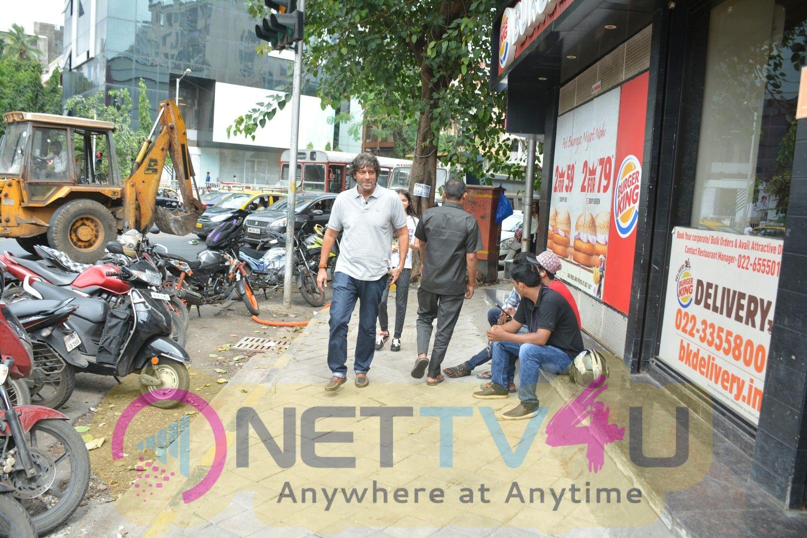 Chunky & Ananya Pandey Spotted At Bastian In Bandra Photos