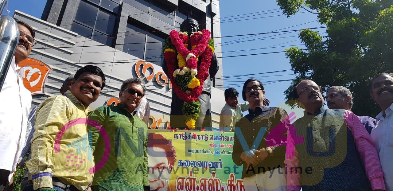 Nadigar Sangam Respect To N S Krishnan Statue Stills Tamil Gallery