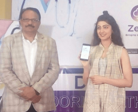 Actress Pranitha Subash Present For Launch Of ZevA App