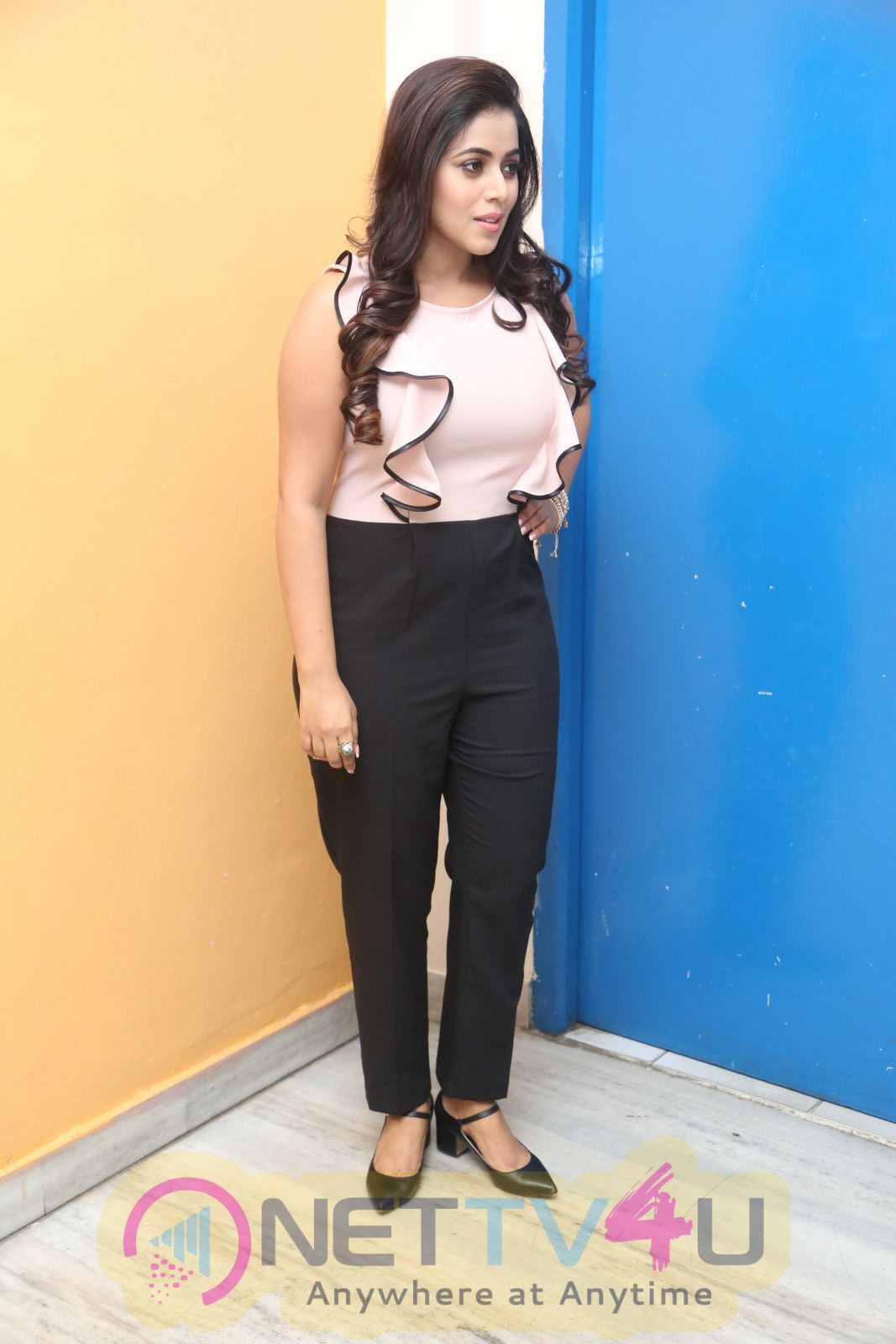 Actress Shamna Kasim At Jayammu Nischayammu Raa Movie Thanks Meet Beautiful Pics