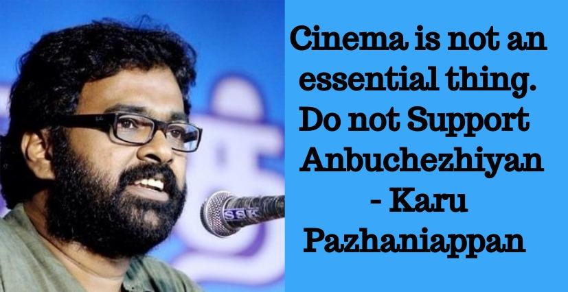 Karu Pazhaniappan Counters Anbuchezhian Supporters!