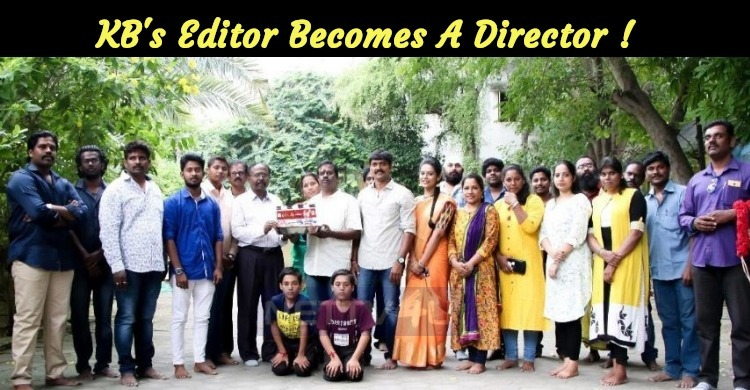 Director Balachander's Editor Becomes A Director With Laddu!