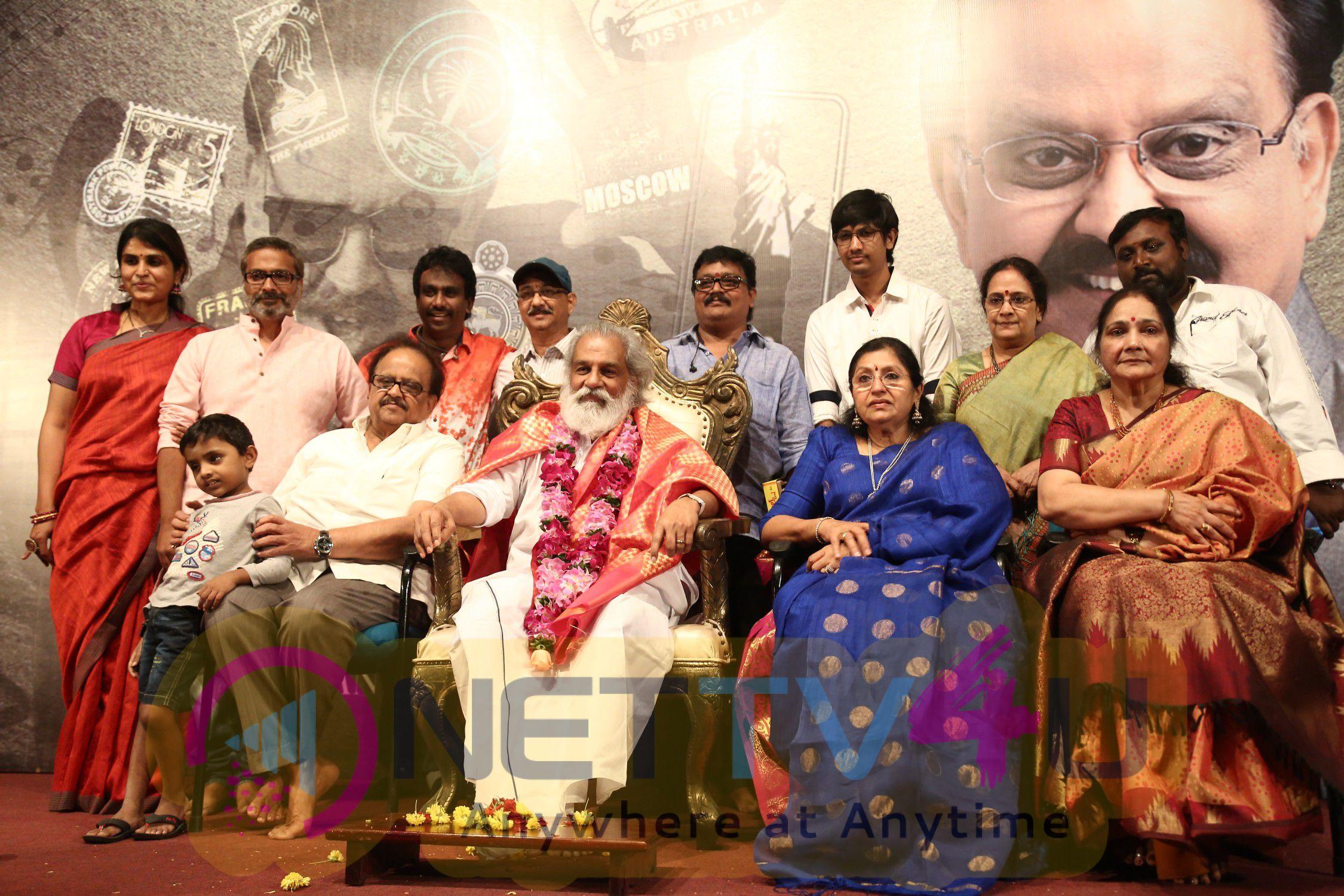 Legendary Singer SPB Sir 50 Years A Grand World Tour Press Meet Photos Tamil Gallery