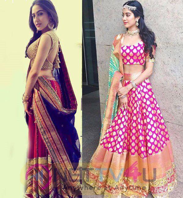 Sara Ali Khan And Jhanvi Kapoor Are In Hot Desi Look Photos