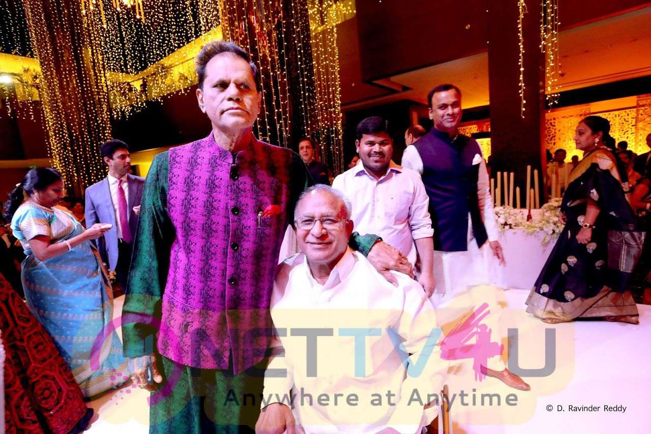 T Subbarami Reddy Grandson Keshav With Veena Sangeet Function Images