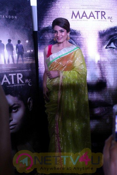 Trailer Launch Of Film Maatr With Raveena Tandon Stunning Pics