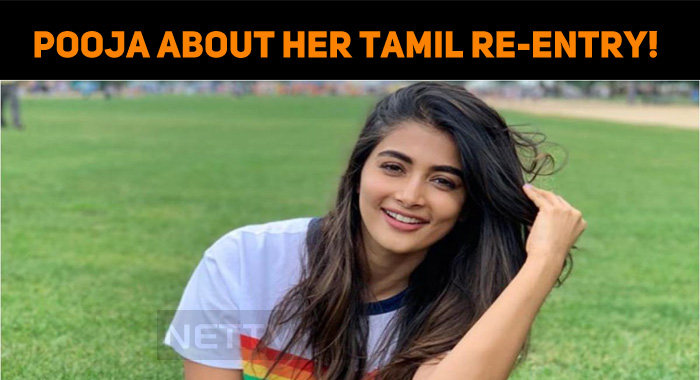 Pooja Hegde Speaks About Her Tamil Re-entry!