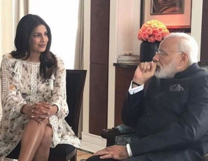 Bold Priyanka Sitting With Pride In Front Of PM Is Getting Trolled!