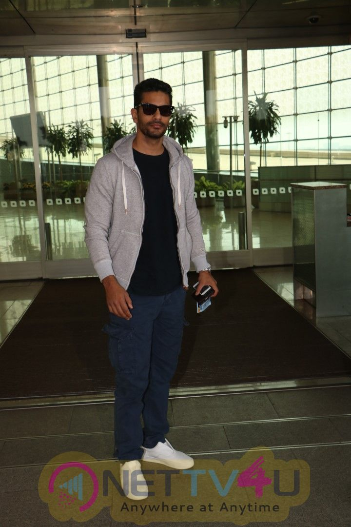 Angad Bedi  Spotted At The Airport Stills