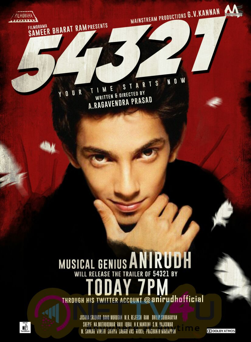 54321 Movie Trailer Launch Poster